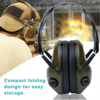 Orejera táctica Anti-ruido para disparar, tapones ajustables plegables para los oídos, auriculares con cancelación de ruido y suave
