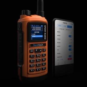 Image 3 - SENHAIX Walkie Talkie Bluetooth GP8800 ham, impermeable, TPU, Bluetooth, programación, transceptor con reflejos LED