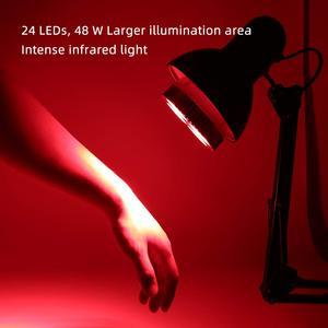 Image 5 - Ampul Büyümeye Yol Açtı E27 48W Derin Kırmızı 660nm Yakın Kızılötesi 850nm Için Çiçekli meyve Büyümek Spektrum Geliştirme Işık terapi