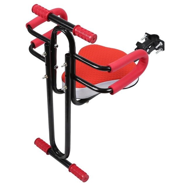 Silla de bebé para bicicleta eléctrica silla de seguridad delantera asiento de sillín con reposabrazos barra Pedal accesorios de ciclismo para ser