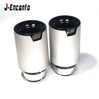 1PC Universal Racing Muffler M LOGO black Exhaust tips M Performance Exhaust Pipe For bmw inlet 60mm/63mm