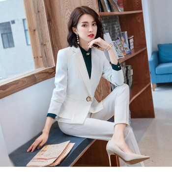Women Clothes Business Wear Suit Female New Slim Fashion Temperament Small Suit Autumn and Winter Interview Sales Dress Uniforms original 2 pieces set dress 2017 new autumn slim fashion temperament black lace dresses women