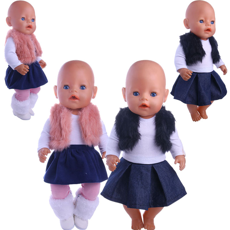Warm Three-Piece Suit (100% Positive Feedback ) Suitable '18' American And 43cm Baby Doll Clothes Accessories, Generation, Gifts