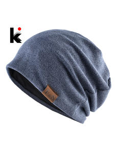 Bonnet-Hat Hats Beanie Turban Knitted Women Autumn Fashion Spring Solid-Color Casual