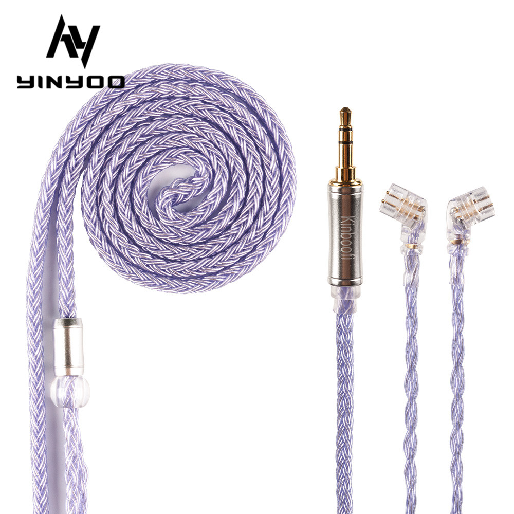 Kinboofi 16 Core High Purity Silver Plated Cable 2 5 3 5 4 4MM With MMCX 2PIN QDC for KZZS10 Pro C12 BA5 BLON BL-03 BL-05 BL05