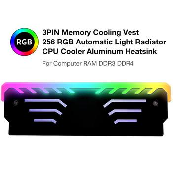 New 3PIN Memory Cooling Vest 256 RGB Automatic Light Radiator CPU Cooler Aluminum Heatsink For Computer RAM DDR3 DDR4 cpu heatsink aluminum computer radiator water cooling cooler 240mm 2 fans drop shipping
