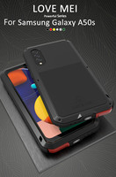 Love Mei Powerful Case For Samsung Galaxy A50 Shock Dirt Proof Water Metal Armor Cover Phone Case for Samsung Galaxy A50S Cases