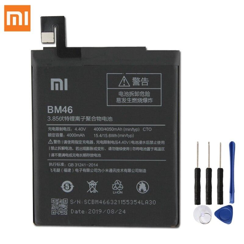 Original XIAOMI BM46 Bateria de Substituição Para Xiaomi Redmi Nota Redrice 3 Note3 Pro Note3 Autêntico Baterias de Telefone 4050mAh