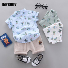 цена на Toddler Baby Boy Summer Clothes Fashion Kids Clothing Short Sets For Boys Outfits Children Costume Suit 0-4 Years Infant Outfit