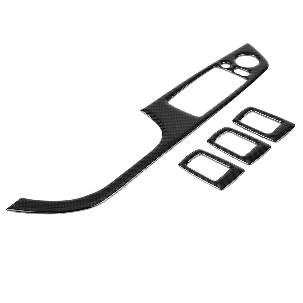 Углеродное волокно для леворульных автомобилей окна автомобиля Лифт кнопка включения Панель рамки накладка Стикеры для BMW E9