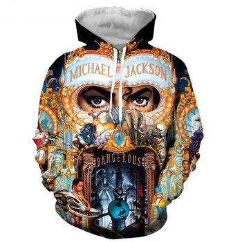 New fashion Hip hop hoodies Men/Women hoodie Sportswear King of pop Michael Jackson 3 sweatshirt casual streetwear tops