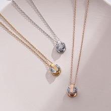 Элегантное блестящее женское ожерелье с кулоном из фианита ожерелья