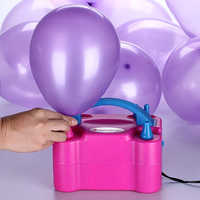 Balloons Pump Double Hole High Voltage AC 220V Inflatable Electric Air Balls Portable Air Blower Birthday Party Supplies
