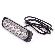 1set Universal Car Vehicle Emergency Warning Strobe Lamp 12-24V 6 LED 18W Slim Amber Motor Turn Running Lights Flash Light Bar(China)