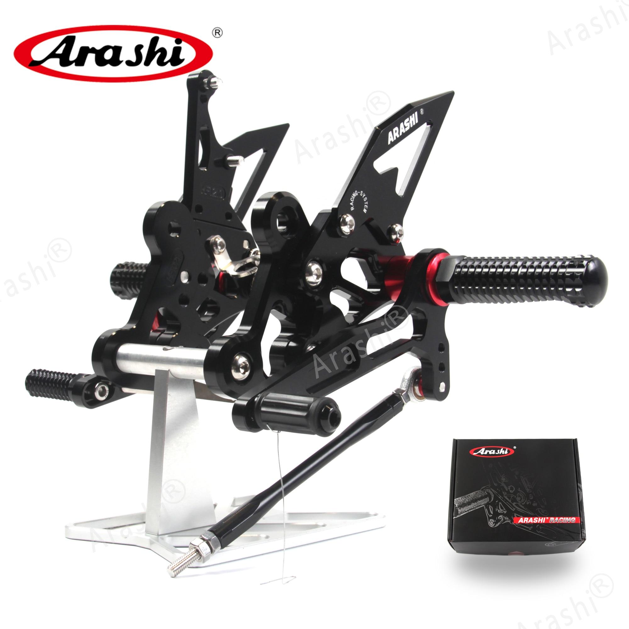 Arashi Motorcycle Adjustable Footrests For SUZUKI GSX-S750 2015-2017 CNC Foot Pegs GSXS750 GSXS GSX S 750 GSX750S 2015 2016 2017