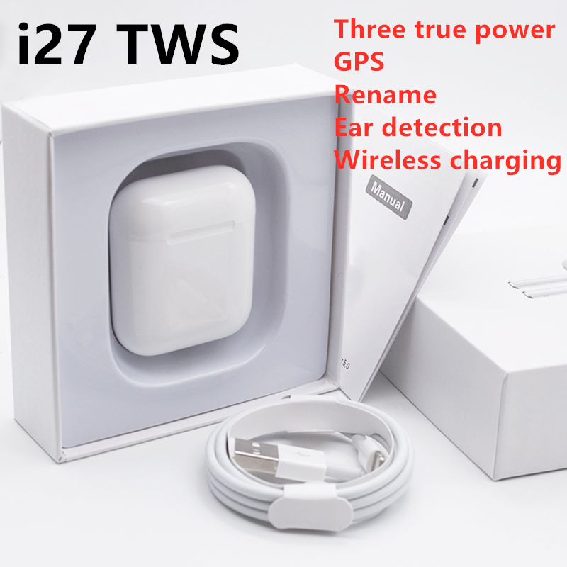 I27 TWS 1: 1 Air Pop Up <font><b>Bluetooth</b></font> <font><b>5.0</b></font> Earphone Wireless Touch Control Earbuds sport Earphones for all <font><b>smartphones</b></font> PK i500 i9000 image