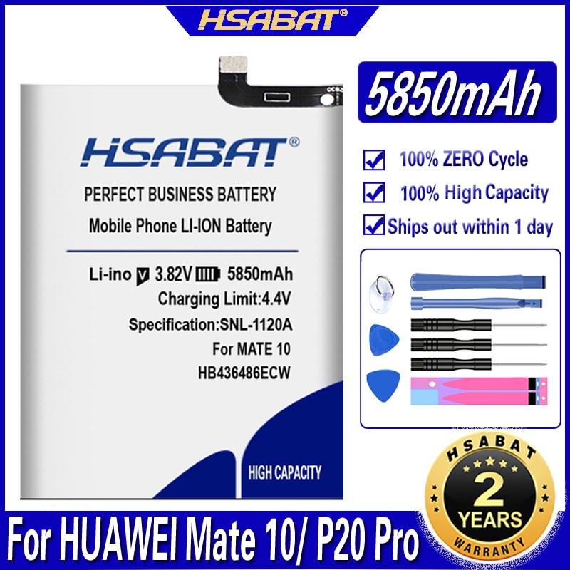 Batterie HSABAT 5850mAh HB436486ECW pour HUAWEI MATE 10/Mate 10 Pro/P20 Pro AL00 L09 L29 TL00/Mate 20/Mate 20 pro/Honor V20/Mate X