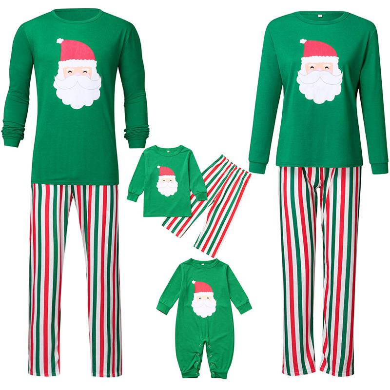 Home Furnishing Suit Christmas Bear <font><b>Mother</b></font> <font><b>And</b></font> <font><b>Daughter</b></font> <font><b>Pajama</b></font> <font><b>Sets</b></font> Lattice Santa Claus Baby Clothes Merry Christmas Family Look image