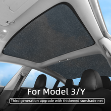 Car Skylight Blind Shading for Tesla Model 3 and Model Y New Style Gray/Stars Color/Black Car Color Net Glass Roof Sunshade