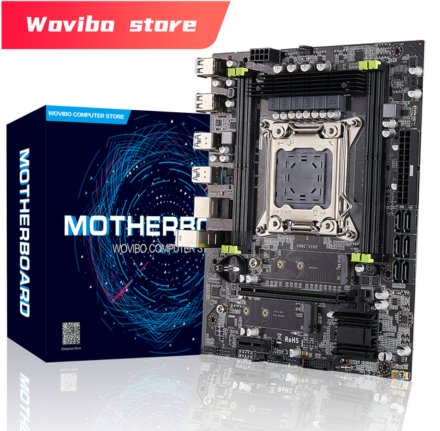 New X99 LGA 2011V3 Motherboard with  M.2 NVME SSD DDR4 Four Channels 4 DIMM Memory X99 Motherboard 2011-3 For Intel Xeon E5 CPU