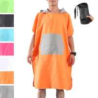 MJARTORIA Adult Diving Suit Change Robes Poncho Hood Quick-drying Hooded Towel Quick-drying Absorbent Sweat-absorbent Swim Robe