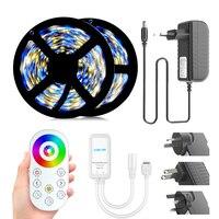 Smd 5050 Rgb Led Strip Dc 12V Waterproof Flexible Led Light Tape Ribbon Lamp Tv Desktop Screen Backlight Diode Neon Decoration