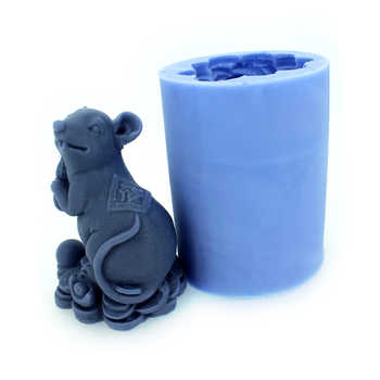 Lucky Mouse Silicone Soap Mold Handmade 3D Resin Mould