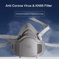 Anti Corona Virus N95 maska Respirator półmaska bezpieczeństwo praca ochrona dróg oddechowych zapobieganie rozprzestrzenianiu się kropelek 2
