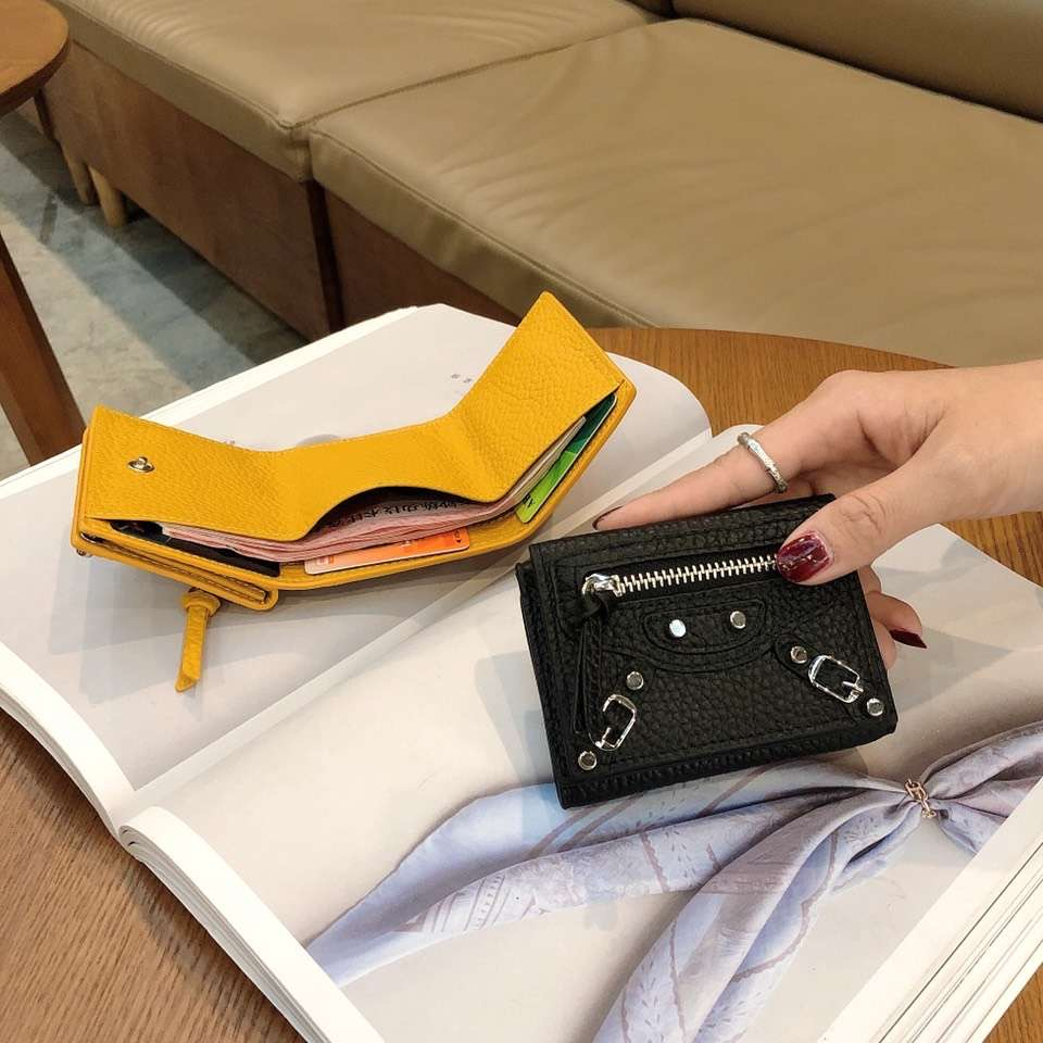 10 Colors 100% Genuine Leather Wallets Purses Fashion Small Money Bag Luxury  Purse Hasp Design Purse