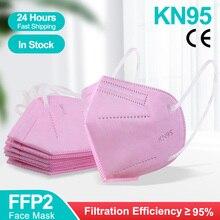 5-100PCS Pink Mascarillas KN95Certificadas FFP2 Face Mask Adult Mascarillas ffp2reutilizable 5 Layers Anti Dust Protective Mask