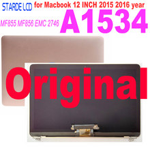Original A1534 LCD For Macbook 12 2015 2016 2017 Years  A1534 LCD Screen Display Assembly MF855 MF856 EMC 2746 Laptop LCD for macbook 12 a1534 switzerland swiss keyboard w topcase 2015 2016 2017 years gold gray grey silver rose gold color