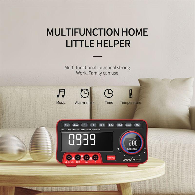 despertador bluetooth alto-falante termômetro de alta precisão
