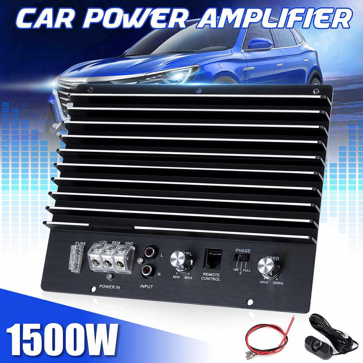 12V 1500W Mono Car Audio Amplifier Powerful Bass Subwoofer Amplifier Board Player Automotive Amplifier Speaker