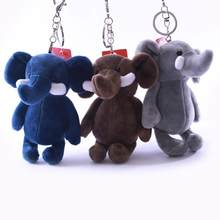 Cute Elephant Animal Stuffed Plush Doll Hanging Bag Pendant Key Ring Keychain Plush Key Chains Hanging Pendant for handbag/backp(China)