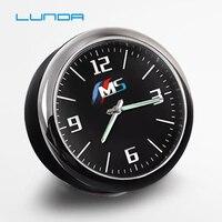 Reloj de coche reloj electrónico decoración de la hora control central modificado para BMW IIM para Audi Sline para Mercedes Accesorios|  -