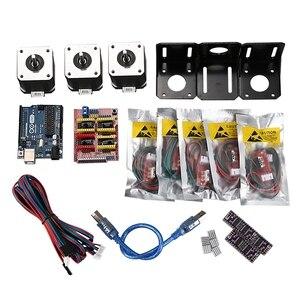 Профессиональный 3D принтер с ЧПУ модуль комплект для Arduino 3D принтер, Nema 17 шаговый двигатель + щит с ЧПУ + для UNO R3 плата + механика