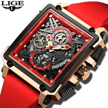 2021 LIGE Watch Men's Watches Waterproof Top Brand Luxury Quartz Square Watch for Men Clock Male Relogio Masculino Montre Homme