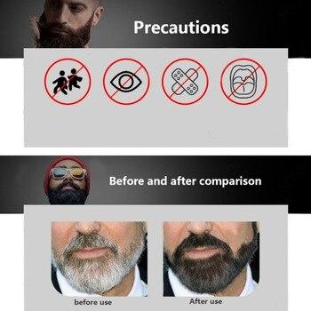 5pcs Beard Blackening Shampoo Natural Without Stimulation Dyed Beard Shampoo Beard Care Q1 3