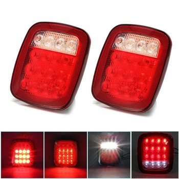 цена на 1 Pcs 12v Led Tail Light For Trailer Car Truck Led Rear Tail Light Warning Lights Rear Lamps Taillight