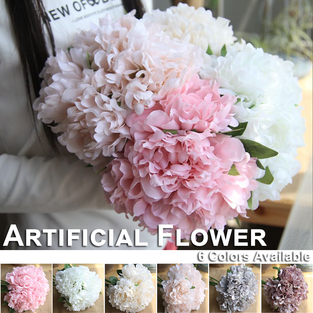 Peony Flowers Artificial flowers Pink/Gray/champagne/White/Light Pink/Purple Wedding Party Decoration For Home Fake D40