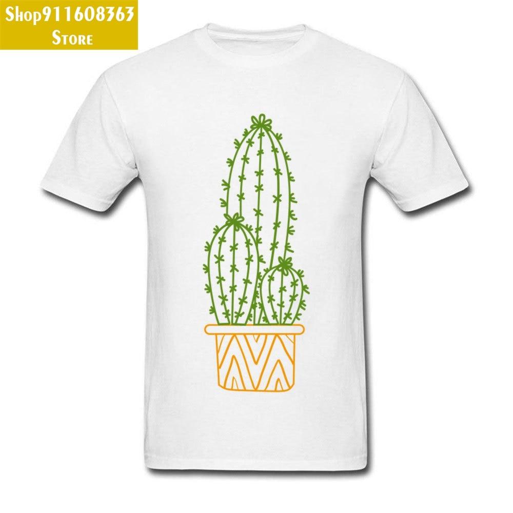 Hug ?Cactus Ornamentada Silueta White T-Shirt Hot Sale Short Sleeve Cotton Fabric Round Neck Young Tees Tops Shirt Summer/Autumn