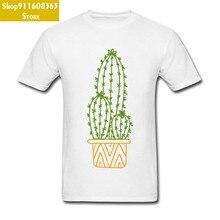 ¿Abrazo? Camiseta blanca de Cactus Ornamentada, camiseta blanca de manga corta de algodón con cuello redondo para jóvenes, camisetas para verano/otoño, gran oferta