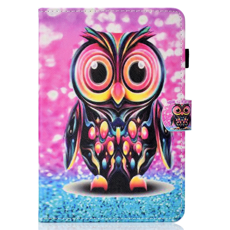 For Samsung Tab A 8.0 T355 Cute Cartoon Owl Leather Fundas Case For Samsung Galaxy Tab A 8.0 T350 T355 Tablet Cover Cases