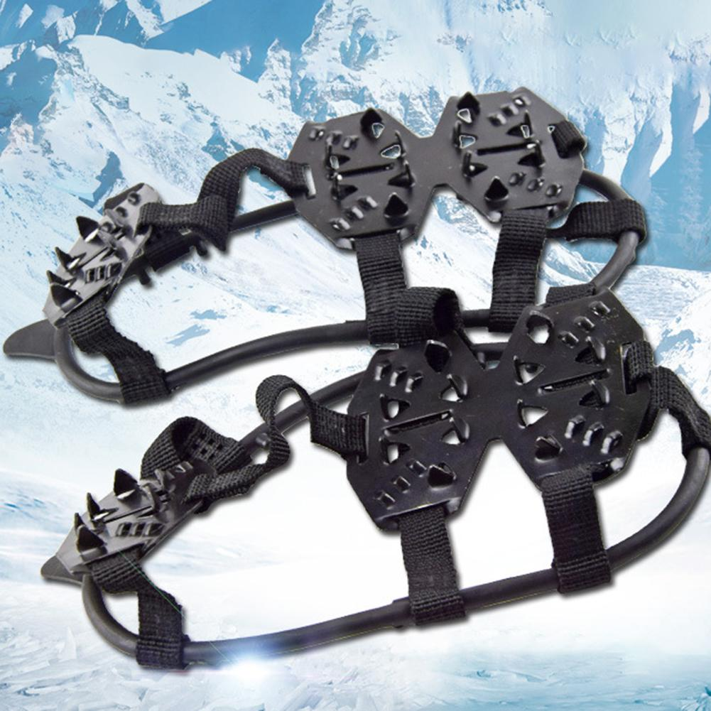 1 Pair 24 Studs Durable Silicone Climbing Non-slip Snow Ice Cleats Crampons Shoes Cover Overshoes