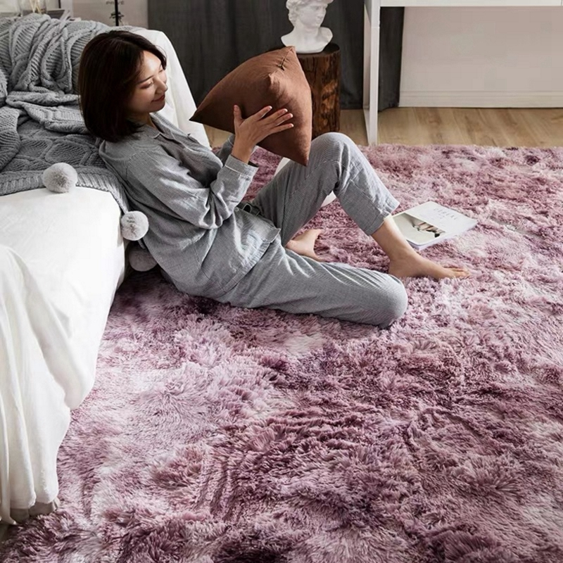 Современный ковер в скандинавском стиле с градиентом, ковер для спальни, гостиной, прямоугольный ковер, пестрый мягкий удобный ковер серого цвета