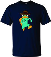 Perry The Platypus - Phineas and Ferb Style Short Sleeve Print Tee Shirt