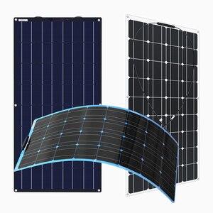 Image 5 - Przenośny elastyczny Panel słoneczny 16V 100 W 18v płyta monokrystaliczna wydajność PV 12V 100 watt chiny fotowoltaika jacht Rv
