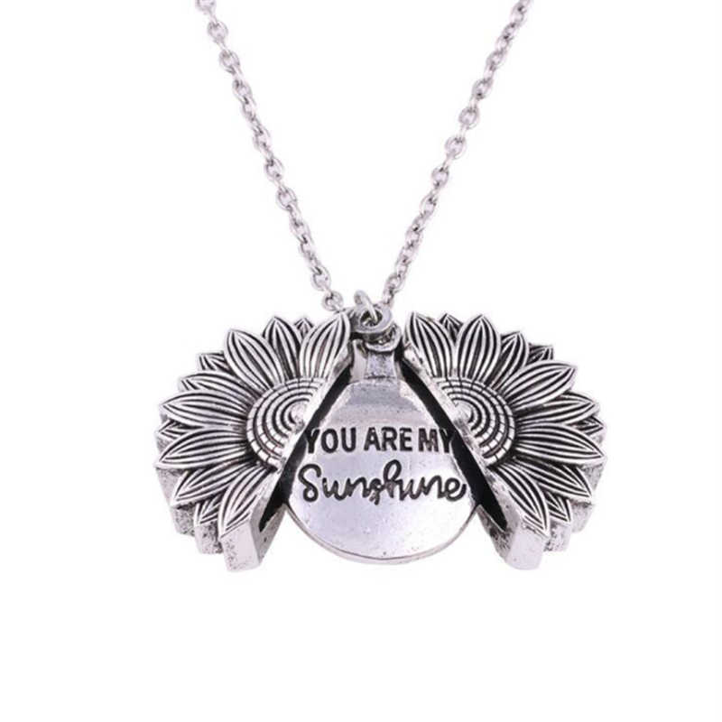 Gökkuşağı altın kolye kadın açık madalyon benim güneşim varsın kolye kolye benzersiz ayçiçeği kolye parti takı hediye