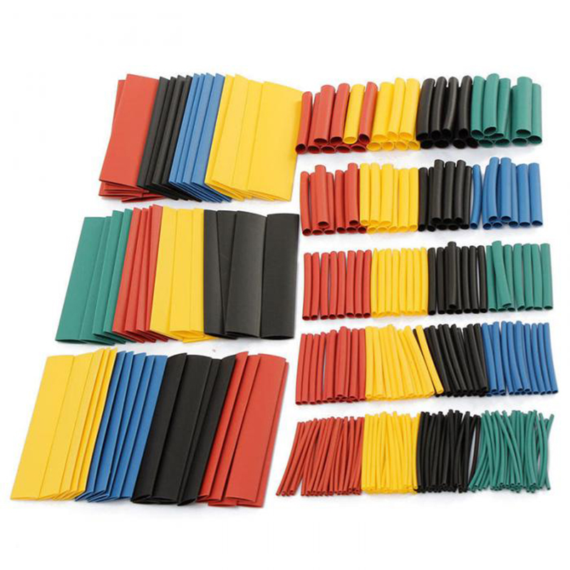 164pcs/box Heat Shrink Tube Kit Shrinking Assorted Polyolefin   Insulation Sleeving Heat Shrink Tubing Wire Cable 8 Sizes  2:1 s 6