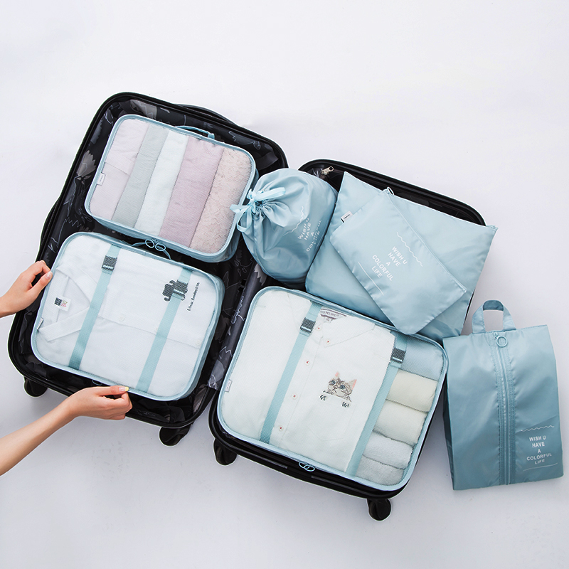 Mihawk Travel Bags Clothing Underwear Shoes Packing Organizer Cube Portable Toiletry Make Up Pouch Accessories Supplies image